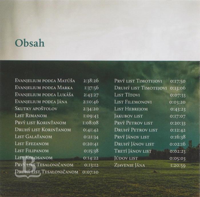 Nová zmluva slovenská, ekumenický preklad, CD
