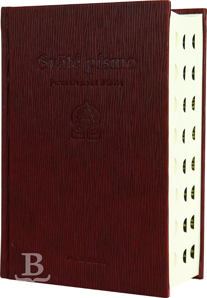 Sväté písmo, Jeruzalemská Biblia, štandardný formát, hnedá obálka s reliéfom