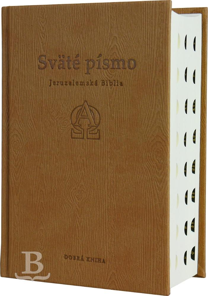 Sväté písmo, Jeruzalemská Biblia, štandardný formát, béžová obálka s reliéfom