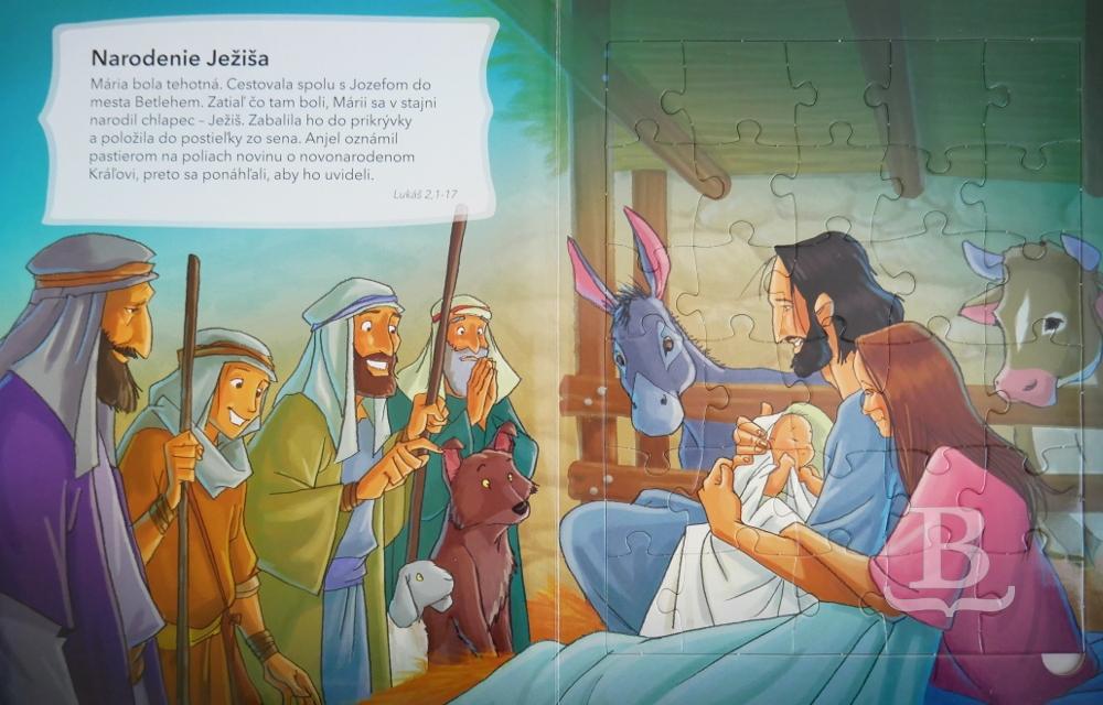 Puzzle Biblia pre deti - sada 2 + 1 zdarma