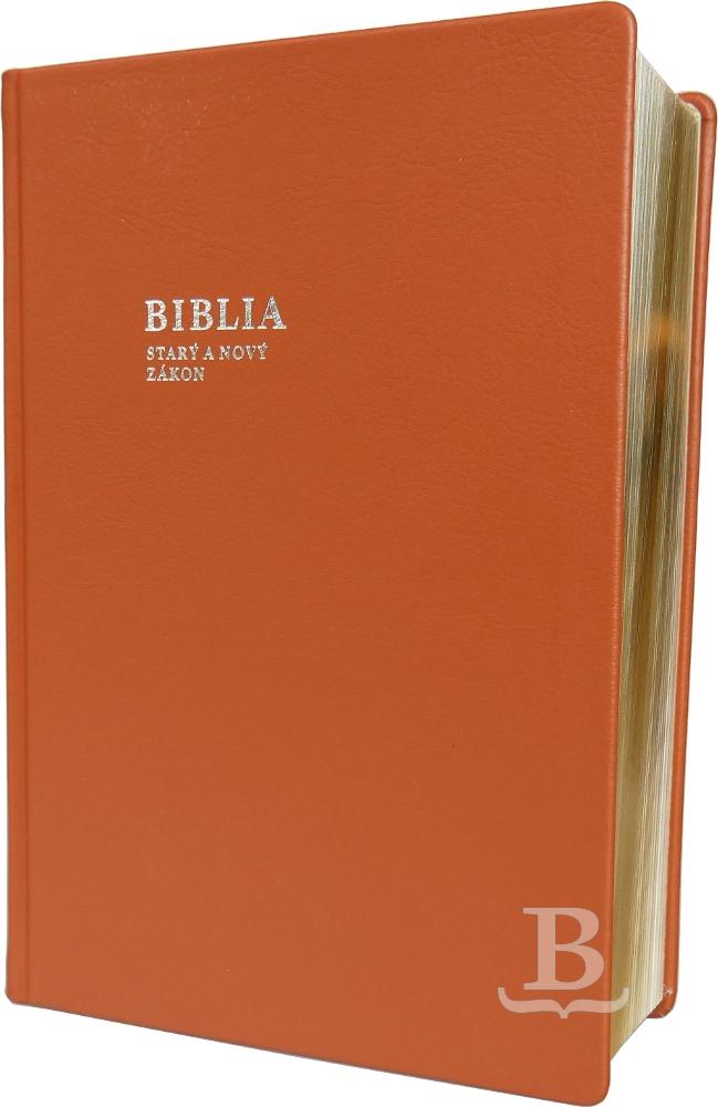 Biblia slovenská, rímskokatolícka, rodinná, koža