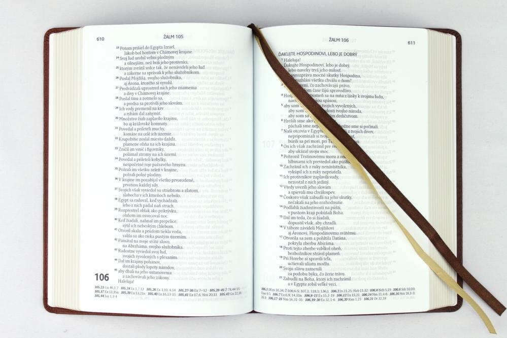 Biblia, ekumenický preklad, edícia SLOVO, 2020, hnedá, dvojfarebná