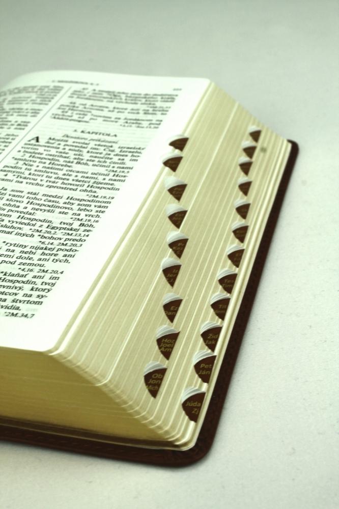 Biblia, Roháčkov preklad, 2020, hnedá, s indexmi