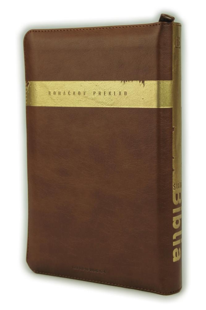 Biblia, Roháčkov preklad, 2020, hnedá, so zipsom, s indexmi