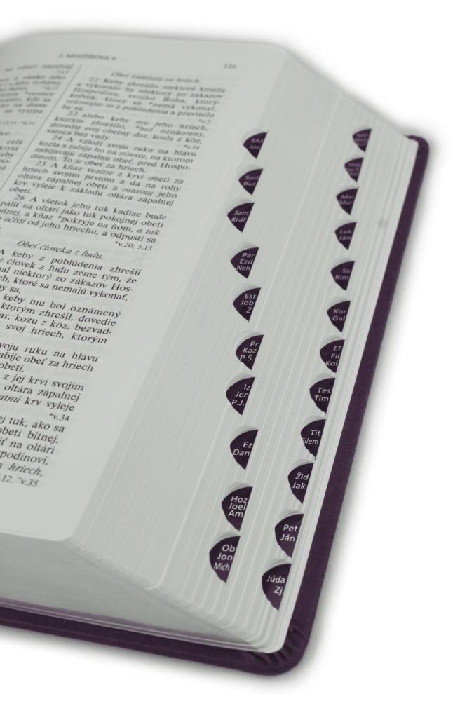 Biblia, Roháčkov preklad, 2020, tmavofialová, pevná väzba, s indexmi