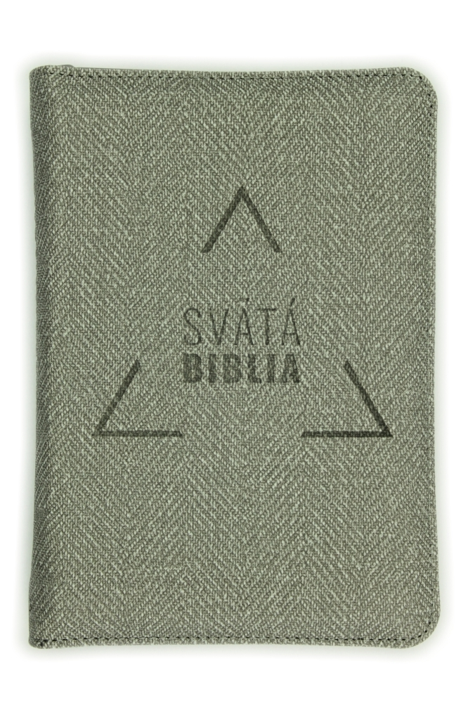 Biblia, Roháčkov preklad, 2020, vreckový formát, sivá, so zipsom