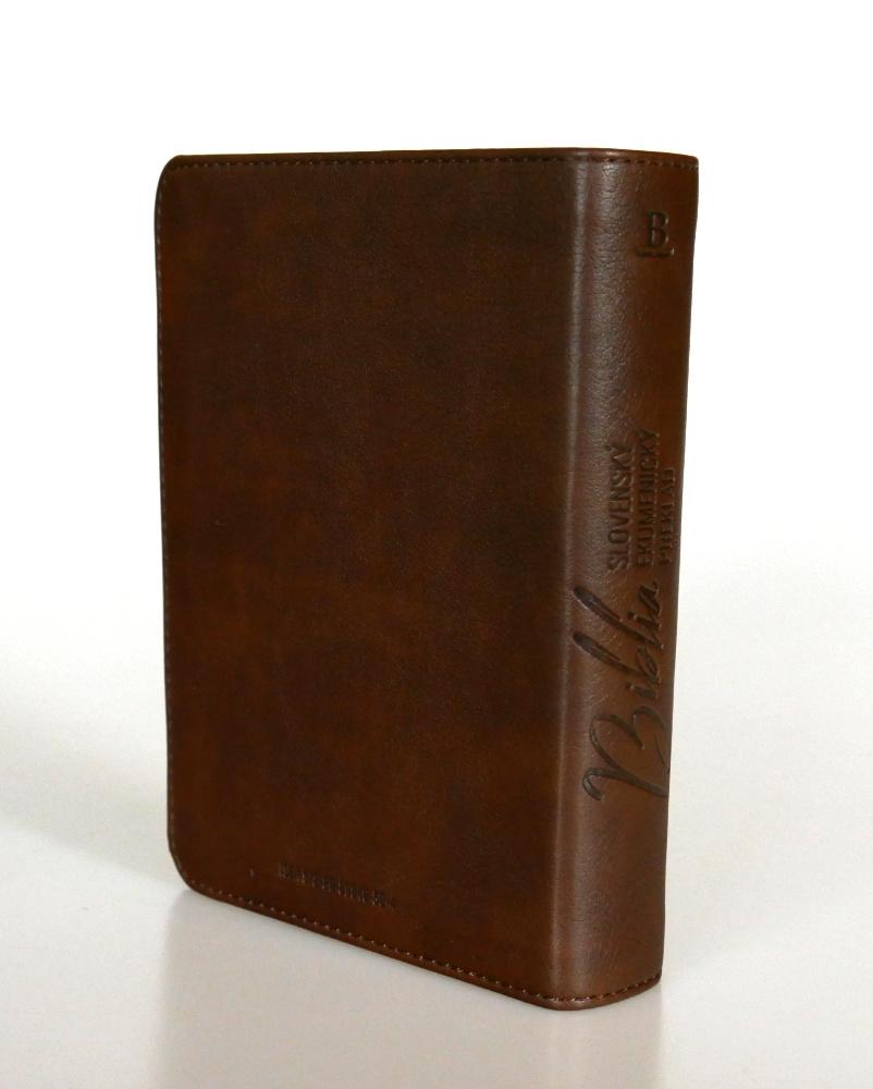 Biblia, ekumenický preklad, edícia SLOVO, 2020, vreckový formát, hnedá, dvojfarebná