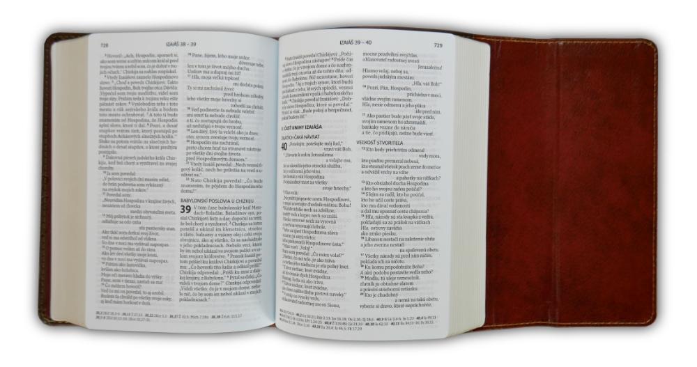 Biblia, ekumenický preklad, edícia SLOVO, 2020, vreckový formát, hnedá, s magnetom